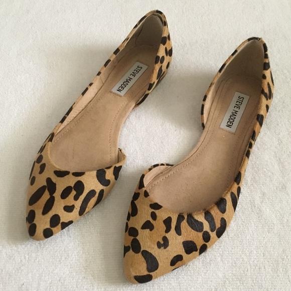 70462cee3bf4 Steve Madden Shoes | Elusion Leopard Pony Fur Dorsay Flat | Poshmark